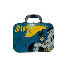 Batman Tin Tote : TruffleShuffle.com (225 MXN) ❤ liked on Polyvore featuring bags, handbags, tote bags, fillers, accessories, batman, borse, handbags tote bags, tote purses and blue handbags