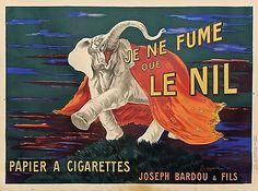 AFFICHE-ORIGINALE-1912-Je-Ne-Fume-que-Le-NIL-par-L-CAPPIELLO-entoilee-bon-etat