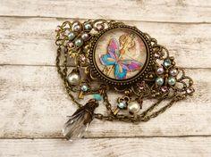 Haarspange mit Schlüssel und Schmetterling von Schmucktruhe auf Etsy