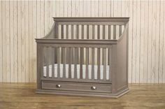 Franklin & Ben - Mason 4-in-1 Convertible Crib With Drawer, Weathered Grey - contemporary - cribs - new york - Kids Stuff Superstore