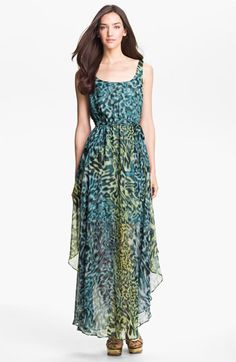 Suzi Chin for Maggy Boutique Print Chiffon Maxi Dress | Nordstrom