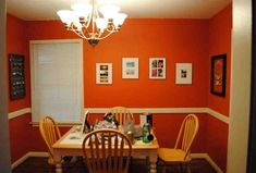 ✔ 55 Dining Room Paint Color Ideas and Inspiration Gallery [Images] Orange Dining Room, Dining Room Paint Colors, Orange Rooms, Living Room Orange, Dining Room Walls, Dining Room Design, Home Decor Wall Art, Room Decor, Taupe Living Room