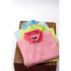 CB DryTec Luxe Alder Brook Stripe Polo - Shirts - Men