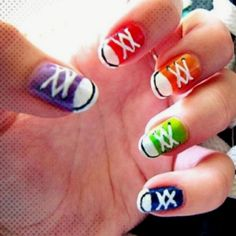 Little converse nails!! For you Kristin G. :)