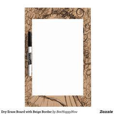 Dry Erase Board with Beige Border