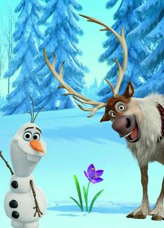 Which Disney Sidekick are you? - Olaf & Sven The Effective Pictures We Offer You About cartoon caricaturas A quality picture can te - Disney Kunst, Arte Disney, Disney Magic, Disney Art, Disney Pixar, Sven Frozen, Frozen Movie, Frozen Party, Disney Frozen Olaf