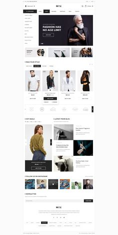 Max - Multipurpose eCommerce Template Homepage Boxed