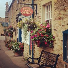 The pretty village of Pilsley on the Chatsworth Estate, England