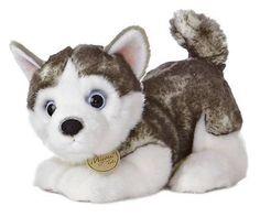 "10"" Aurora Plush Siberian Husky Puppy Dog  Miyoni Tots Stuffed Animal Toy 26152"