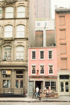 NYC# love this little pink house, can't quite read the name of the store, but it looks like 'Tiny's'-very appropriate!