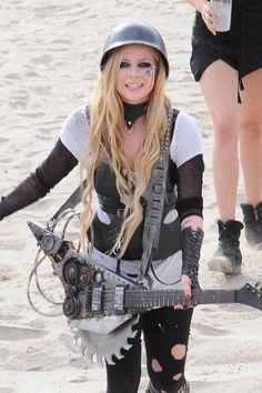 Avril Lavigne Films Music Video Avril Lavigne blast chainsaw guitar ...