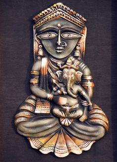 Twitsnaps Zoom :: Great artwork of Lord Ganesha and his mother- Goddess Parvat…