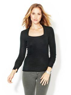 Square Neck Cashmere Sweater by Inhabit on Gilt.com