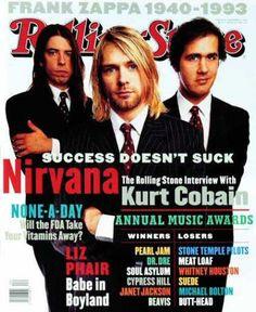 Última portada de la Rolling Stone donde Nirvana sale de portada....antes del suicidio.