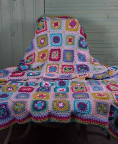 Items similar to Granny Square Large Crochet Blanket. Handcrafted on Etsy Large Granny, Granny Square, Pet Cremation, Large Blankets, Etsy Handmade, Handmade Baby, Crochet Home Decor, Crochet Gifts, Hand Made