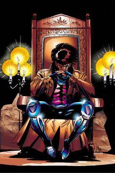 ✭ Gambit - X-Men / Marvel Comics Comic Book Characters, Comic Book Heroes, Marvel Characters, Comic Character, Comic Books Art, Comic Art, Comic Pics, Hq Marvel, Marvel Comics Art