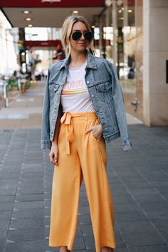 Yellow Pants for Spring