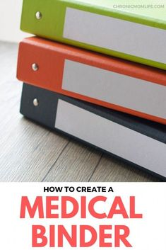 How to create a medical binder. 24 free printables to help organize medical info… How to create a medical binder. 24 free printables to help organize medical information for yourself, children or other family. Family Emergency Binder, Binder Organization, Kids Health, Children Health, Health Tips, Medical Information, Health Promotion, Coping Skills, Emergency Preparedness