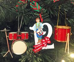 On the 12th day, a marching band appeared! #ChristmasInJuly #12DaysofChristmas #drumming #percussion #drummer #drumset #marchingsnare #marchingband #drummersdrumming #ornaments