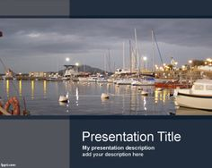 Seaport PowerPoint Template is an amazing port PowerPoint template for maritime presentations but also for shipping maritime services #maritime #business #powerpoint #PPT #templates