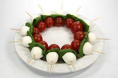 Caprese-Spieße (Tomate-Mozzarella-Spieße)