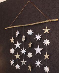 Kommer ni ihåg den här väggdekorationen som jag gjorde i Monthly Makers julkalender? Jag har äntligen kommit till skott och bytit ut snöflingorna mot origamistjärnor. Så nu blev det helt enkelt en…