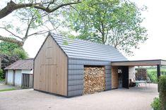 Ecologisch bijgebouw met mooi houten lijnenspel - PhotoID #242554 - architectenweb.nl #sustainablearchitecture