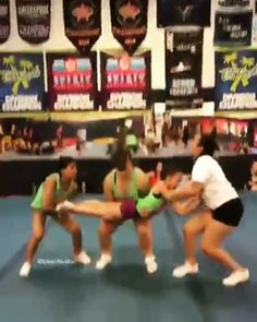 cheerleading stunting This is so solid Easy Cheerleading Stunts, Cool Cheer Stunts, Cheer Tryouts, Cheer Coaches, Competitive Cheerleading, Cheerleading Cheers, All Star Cheer, Cheer Mom, Cheer Hair