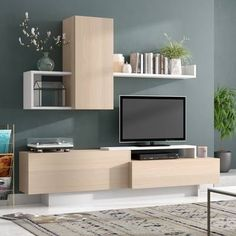 hacks living room small spaces Brayden Studio Malott Entertainment Center for TVs up to 50 inches Tv Wanddekor, Room Interior, Interior Design, Tv Wall Decor, Living Room Tv, Small Apartments, Small Spaces, Home Decor Styles, Small Living