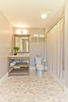 Paint is Farrow & Ball Dove Tale #267 estate eggshell (20% sheen) Lexington Update traditional-bathroom via Houzz