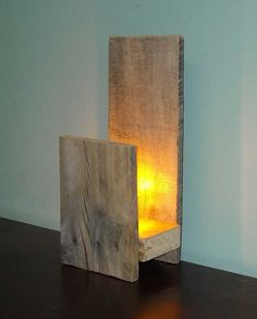 Rustic Table Lamp - Accent Lamp - Rustic Wedding Gift - Pallet Lighting