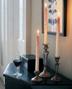 Purple and black candlesticks