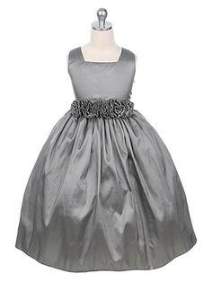 Pretty for a New Year's Eve themed wedding!  Flower girl dress Taffeta Flower Girl Dress