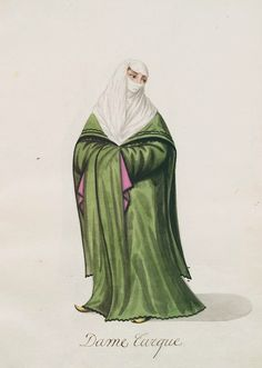 13 Great 19th Century Album Of Ottoman Fashion Images Ottoman