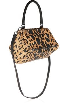 GIVENCHY Small Pandora shoulder bag in leopard-print washed-leather  AU$2,208.78 https://www.net-a-porter.com/products/587763