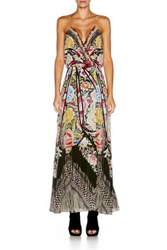 8ca685ee99 Camilla Strappy Wrap Dress Flamenco Sweep find it and other fashion trends.  Online shopping for Camilla clothing. silk