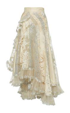 Sabotage Flocked Asymmetric Lace-Chiffon Skirt by ZIMMERMANN Now Available on Moda Operandi Source by goldbarz skirt Fashion Mode, Look Fashion, Skirt Fashion, Fashion Outfits, Womens Fashion, Fashion Design, Stage Outfits, Mode Outfits, Mode Unique