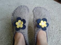Upcycled jumper slippers!
