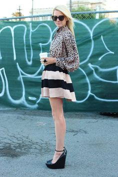 Top: Asos. Skirt: BCBG (bought at Macys). Shoes: Theyskens' Theory. Jacket: Gap. Sunglasses: Karen Walker. Jewelry: Alexis Bittar ring, David Yurman bracelets.