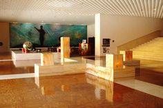 Interior of hotel Camino Real in Mexico City by Ricardo Legorreta.