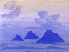 :: Nicholas Roerich :: virtual museum :: Higher Than the Mountains His Country Series 1924. Tempera on canvas. Bolling Collection, Naples, Florida