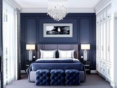 We make products from natural wood, use veneer of different wood species. Home Room Design, House Design, Neoclassical Interior Design, Blue Carpet Bedroom, Classic Bedroom Decor, Master Bedroom Redo, My House Plans, House Rooms, Furniture Factory