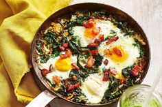 Making breakfast before work has never been easier. Get cracking on this and power through your work day thanks to this protein-packed meal. Egg Recipes, Brunch Recipes, Breakfast Recipes, Breakfast Ideas, Recipies, Superfood Recipes, Healthy Recipes, Vegetarian Pizza, Egg Tart
