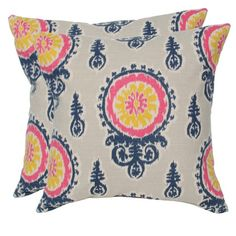 I pinned this Birch Pillow in Pink and Navy - Set of 2 from the Elisabeth Michael event at Joss and Main!