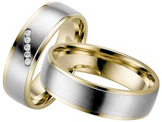 The Wedding Band Shop – Wedding Rings Dublin Ireland: White Gold with Yellow Gold Edges