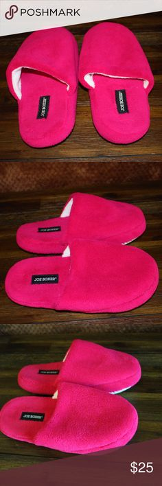 Joe Boxer pink slippers Joe Boxer pink slippers, brand new , never used . Joe Boxer Shoes Slippers