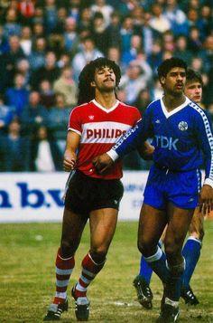 PSVEindhoven v Ajax in 1986; RuudGullit and FrankRijkaard