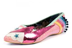 Irregular Choice Ground Control Pink Peach Flat Ballet Shoes