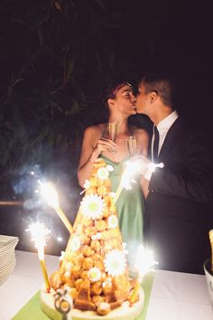 croquembouche and fireworks #weddings