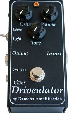 """""""The Over Driveulator came from the desire for the tone of the FOD-1 without the added mid-boost circuit. Featuring the Tight/Loose mini toggle to switch between silicon (Tight) or germanium (Loose) a"""